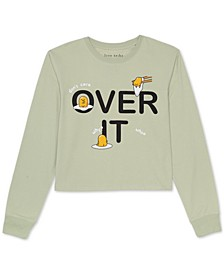 Juniors' Over It Long-Sleeved Graphic T-Shirt