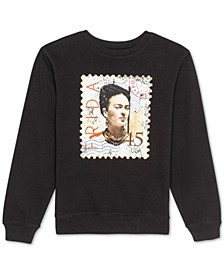 Juniors Frieda Kahlo Graphic Print Sweatshirt