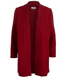 Plus Size Boiled Wool Cardigan