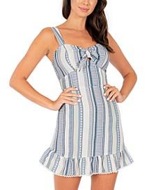 Juniors' Striped A-Line Dress
