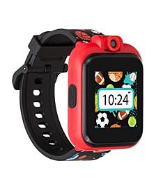 Kid's Playzoom 2 Black Sports Print Tpu Strap Smart Watch 41mm