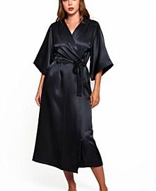 Women's Luxury Long Robe with Kimono Style Sleeves