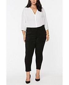 Plus Size Alina Legging Faux Suede Jeans