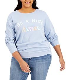 Trendy Plus Size Nice Human-Graphic Sweatshirt