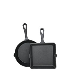 Cast Iron 2-Pc. Mini Skillet & Griddle Set