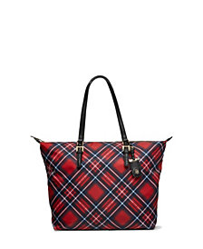 Tommy Hilfiger Julia Plaid Tote
