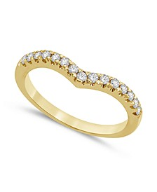 Diamond Chevron Band (1/4 ct. t.w.) in 14k White or Yellow Gold