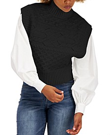 Mock Neck Cable-Knit Vest, Created for Macy's