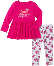 Little Girls Tunic and Floral Print Legging Set