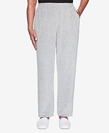 Women's Missy Modern Living Velour Proportioned Medium Pant