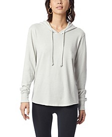 Women's Cozy Vintage-Like Heavy Knit Pullover Hoodie