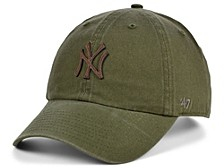 New York Yankees Double Faux-Leather Clean Up Cap
