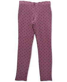 Dot-Print Ponté-Knit Pants, Created for Macy's