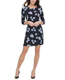 Floral-Print Jersey A-Line Dress