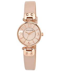 Women's Blush Leather Strap Watch 26mm 10-9442 RGLP