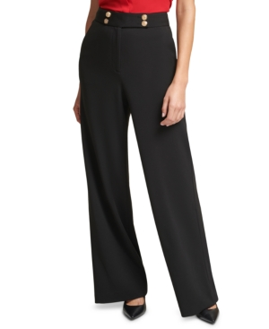 Calvin Klein Straight-Leg Pull-On Pants
