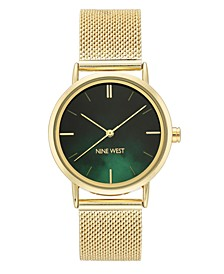 Women's Gold-Tone Mesh Bracelet Watch, 35mm