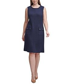 Plus Size Scuba A-Line Dress