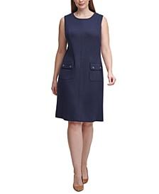 Plus Size Scuba A-Line Dress