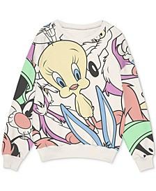 Trendy Plus Size Looney Tunes-Print Sweatshirt