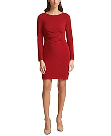 Ruched Metallic Sheath Dress