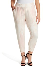 Trendy Plus Size Printed Pull-On Joggers
