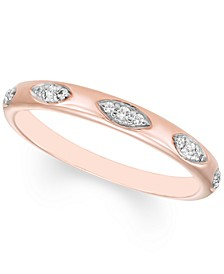Diamond Band (1/10 ct. t.w.) in 10k Rose Gold