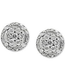 EFFY® Diamond Cluster Stud Earrings (1/2 ct. t.w.) in 14k White Gold