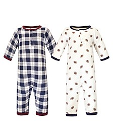 Baby Boys and Girls 2 Piece Premium Quilted Coveralls