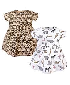Baby Girls 2 Piece Cotton Dresses