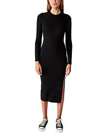 Women's Ella Long Sleeve Maxi Split Dress