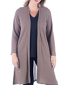 Women's Plus Size Knee Length Cardigan