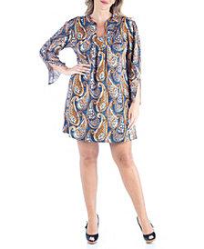 Women's Plus Size Paisley Print Shift Dress
