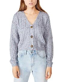 Women's Multi Yarn Cropped Cardigan