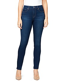 Women's Midrise Skinny Short Length Jeans