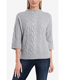 Elbow Sleeve Funnel Neck Sweater