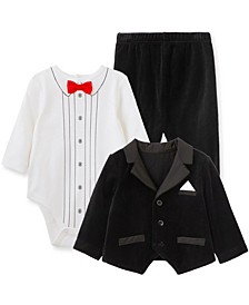 Baby Boy Tuxedo 3pc Jacket Set