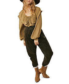 Free People Margate Corduroy Paperbag Trousers