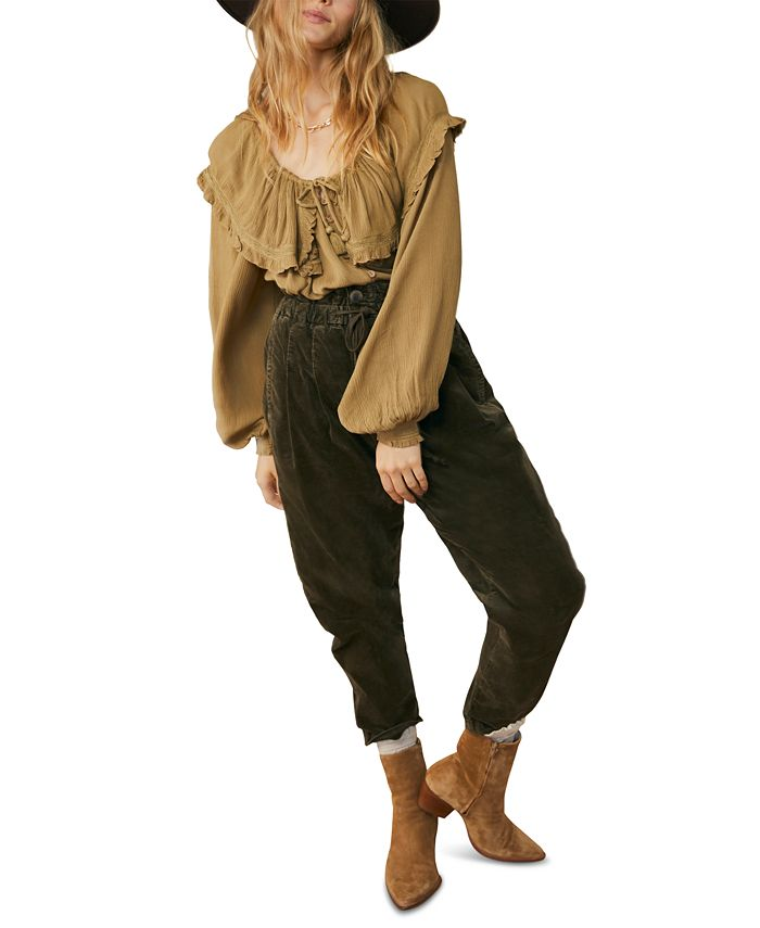 Free People - Margate Corduroy Paperbag Trousers