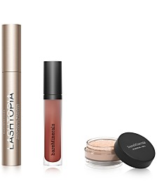 3-Pc. Mascara, Matte Lip Color & Finishing Powder Gift Set