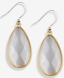 Lucky Brand Gold-Tone Crystal Drop Earrings