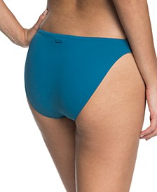 Juniors' Solid Beach Classics Strappy Bikini Bottoms