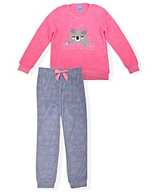 Big Girls Minky Fleece Novelty Pajama Set, 2 Piece