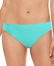 Juniors' Crinkle Texture Hipster Bikini Bottoms, Created for Macy's