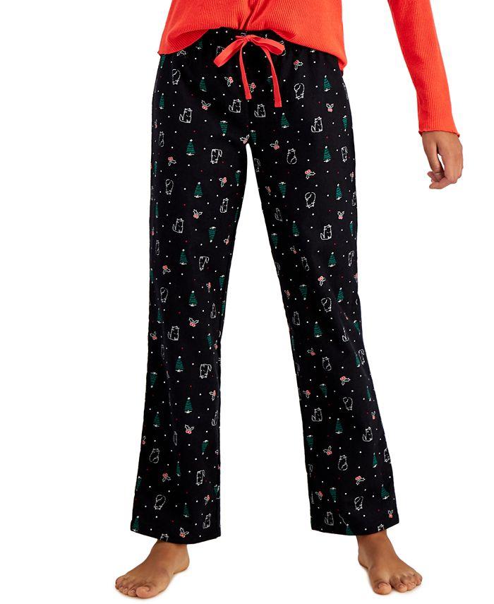 Jenni - Printed Cotton Flannel Pajama Pants
