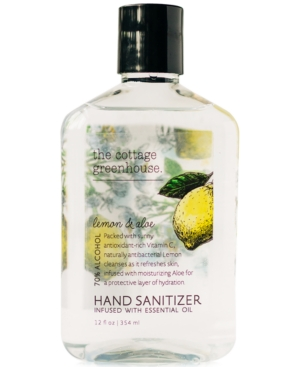 The Cottage Greenhouse Lemon & Aloe Hand Sanitizer, 12-oz.