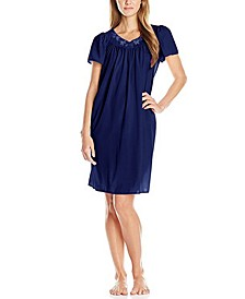 Petite Embroidered Nightgown