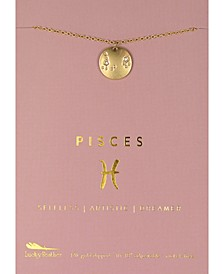 Zodiac Gold-Tone Charm Necklace, Pisces