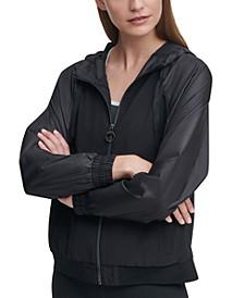 Shine Blocked Hooded Jacket