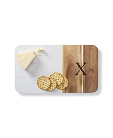 Personalized Marble Acacia Cheese Board